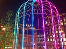 Kings Cross in a neon glow for LumiereLDN This coolhellip