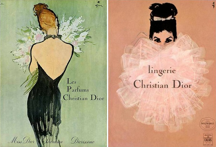 unmistakable, iconic illustration style shaped Christian Dior