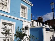 Blue skies and blue houses in Notting Hill What anhellip