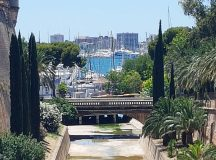 A glimpse of the Palma Port from the Parc dehellip