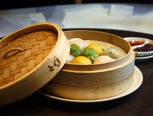 Min Jiang steamed dim sum platter
