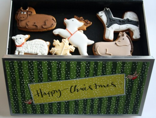 Biscuiteers advent calendar tin