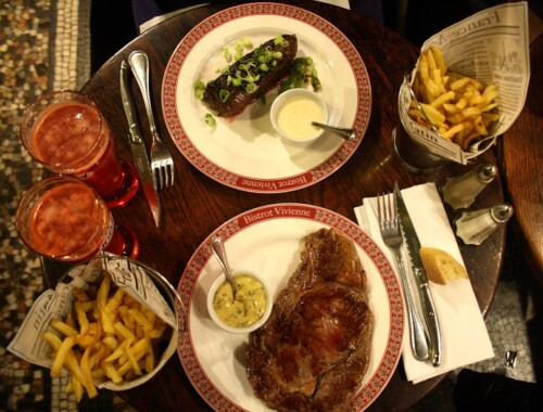 Bistrot Vivienne Paris steak frites