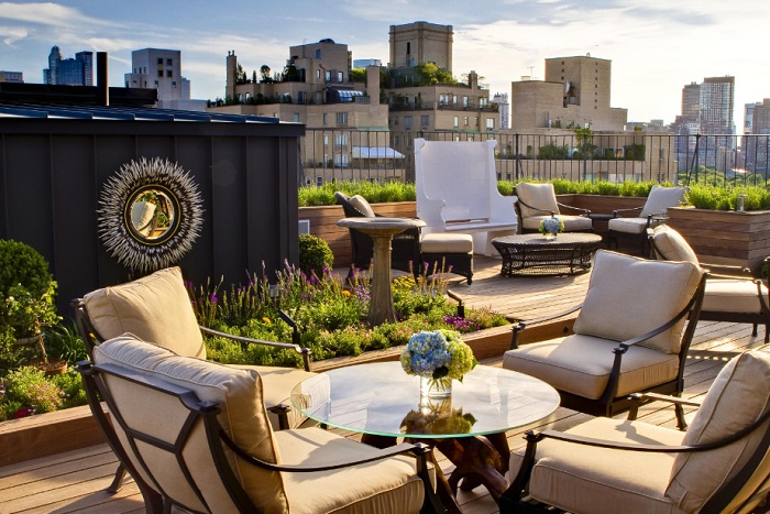 The Surrey NYC rooftop terrace