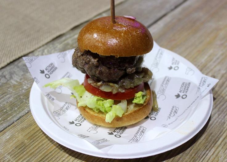 Taste of London Action Against Hunger burger