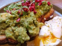 Lunch with pals farmgirlcafe Avocado and poached egg on toasthellip