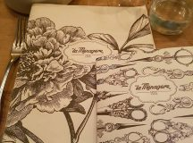 Even the menus are pretty at restaurantlifestyle store lamenagere Itshellip